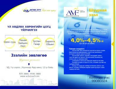 Актив моргэйж фанд ХХК / Active mortgage fund LLC